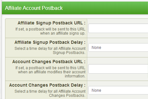 Updating Offer Specific Postback URLs