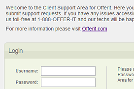 Offerit Ticket System login